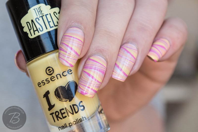 Pastel  Watermarble nail art by Kathrin