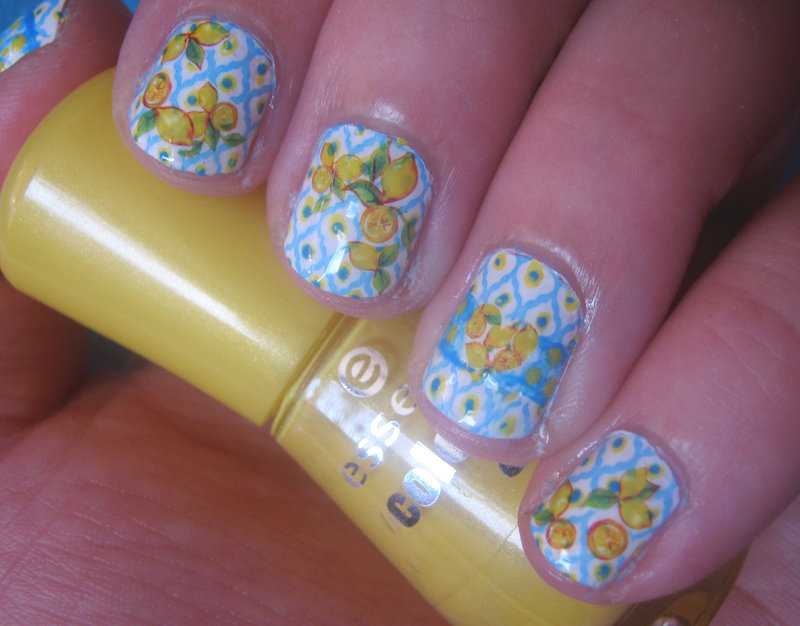 Mediterranean Lemons nail art by VixensWedding