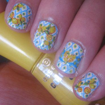 Mediterranean Lemons nail art by VixensWedding