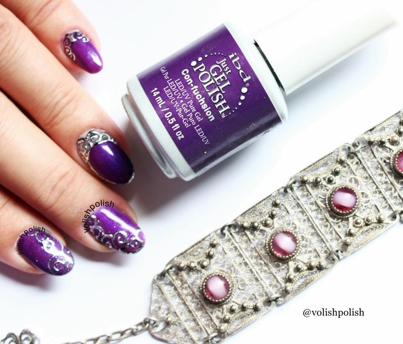 Filigran nail art  nail art by Volish Polish