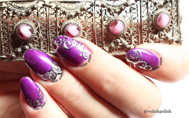 Filigree nail art  nail art by Volish Polish
