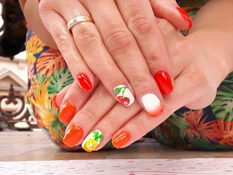 Summer /fruits nail art by Ewa EvaNails