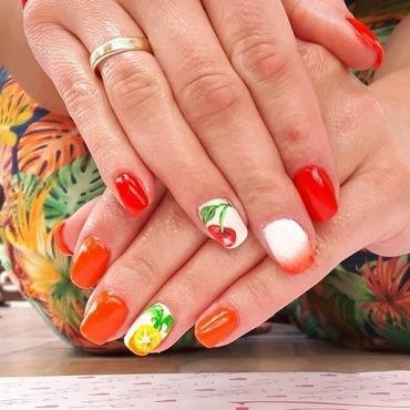 Summer /fruits nail art by Ewa EvaNails