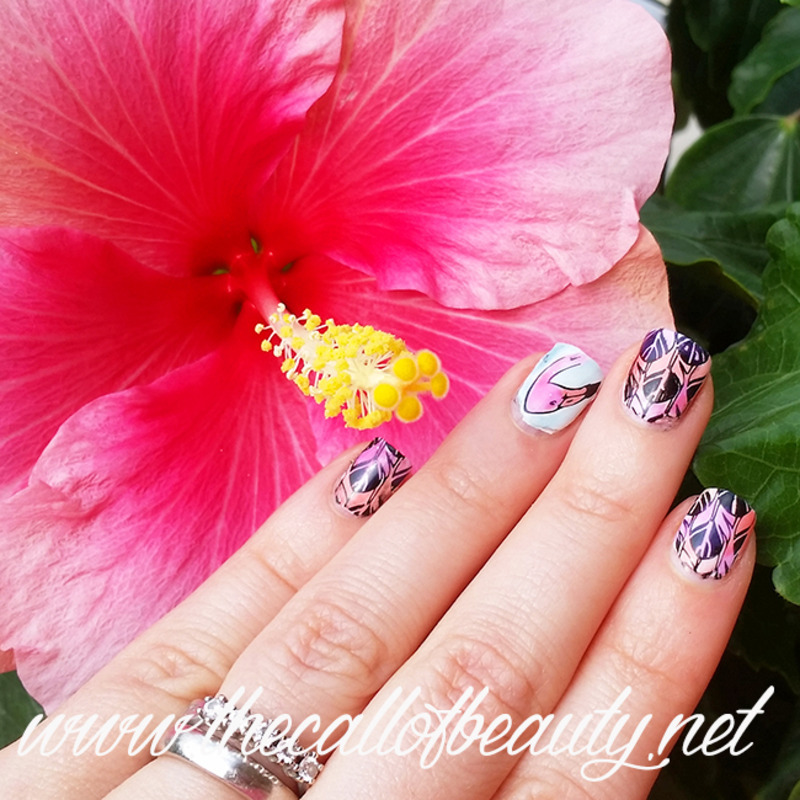 Flamingo Nails nail art by The Call of Beauty