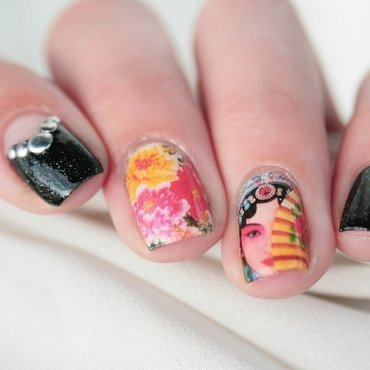 Chinese opera actress  nail art by Romana