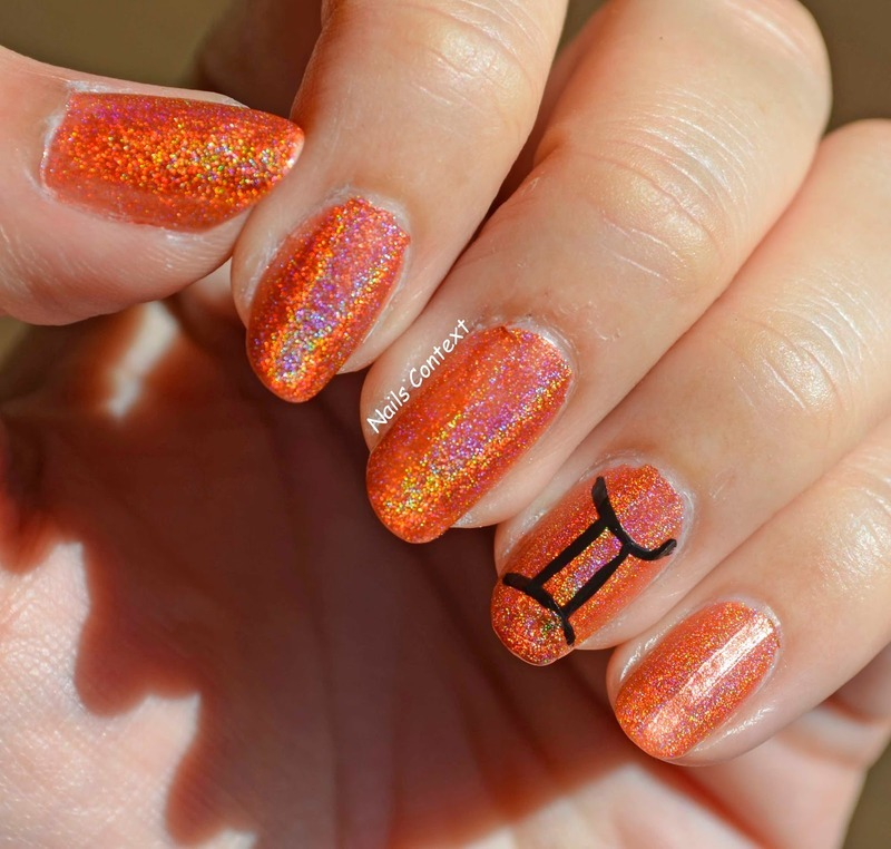 Gemini Nails  nail art by NailsContext