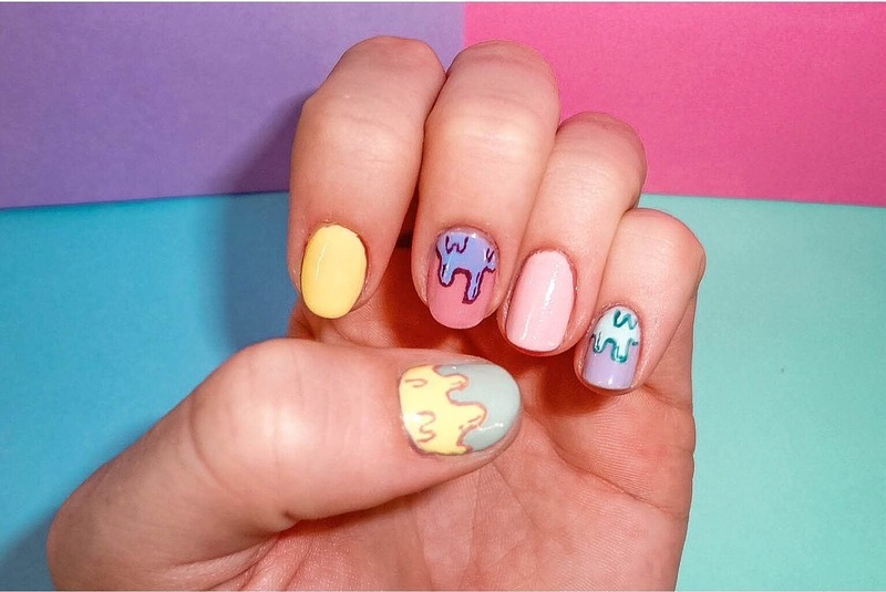 Melting Ice Cream Dream nail art by Nailed_it92