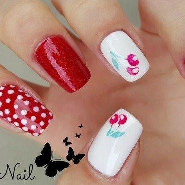 Cherry nail art nail art by Irina Nail