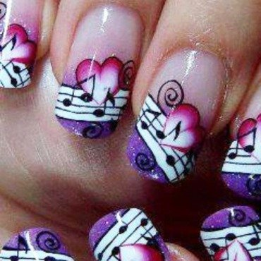 Sounds like love nail art by Teana Jones