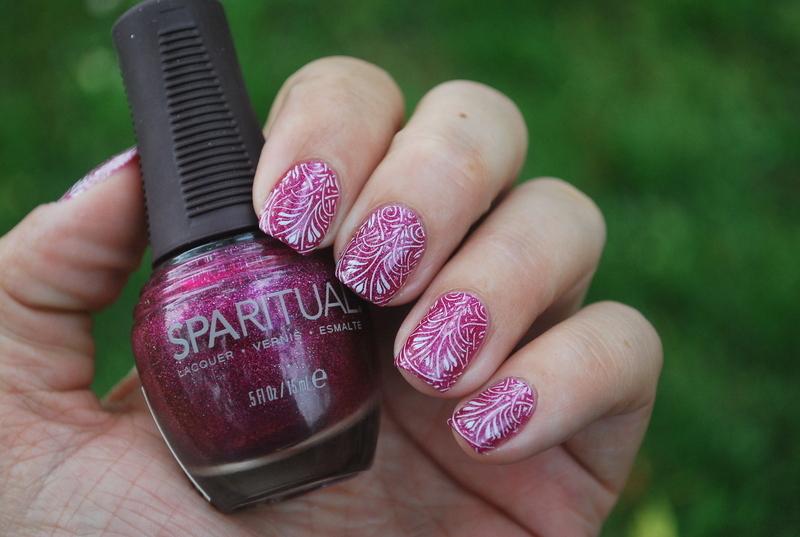Moyra stamping nail art nail art by Hana K.