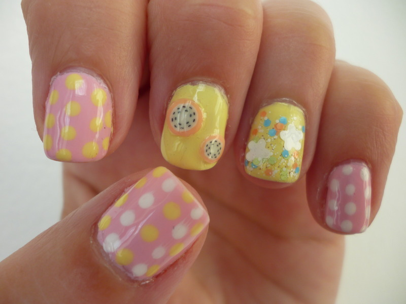 Lemon sorbet nail art by velinux