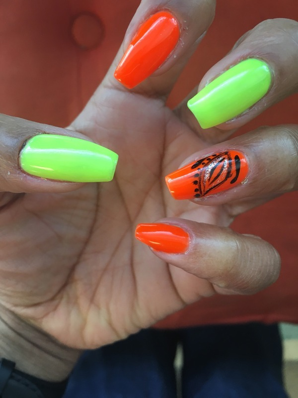 In the Wild nail art by Jazz