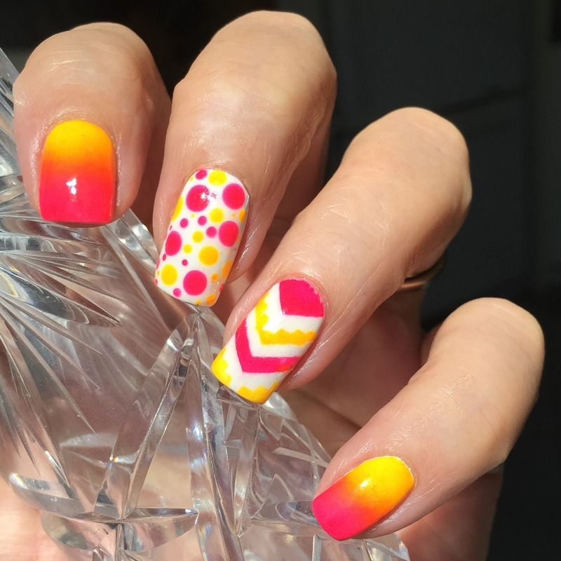Colors I'm obsessed with now  nail art by Vernimage