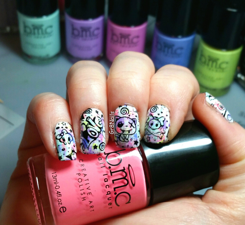 Graffiti   nail art by Gr8Nails