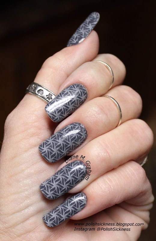 Gray on Gray nail art by PolishSickness