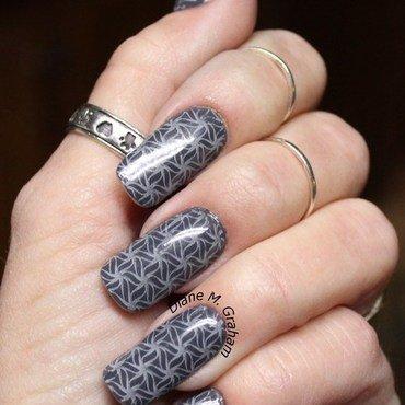 Gray on Gray nail art by PolishSickness