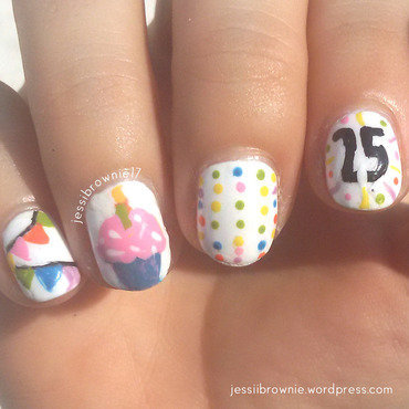 Birthday Nails! nail art by Jessi Brownie (Jessi)