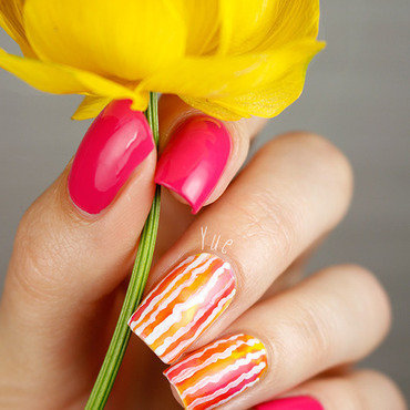 Stripe watercolor nail art thumb370f
