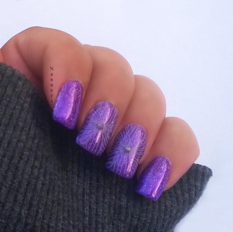 Amethyst nail art by Nanneri