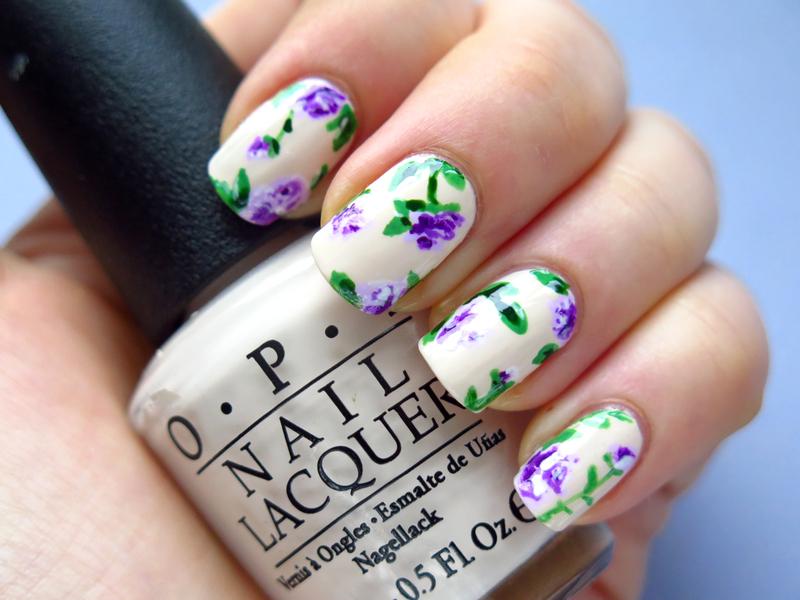 Vintage roses nail art by theCieniu