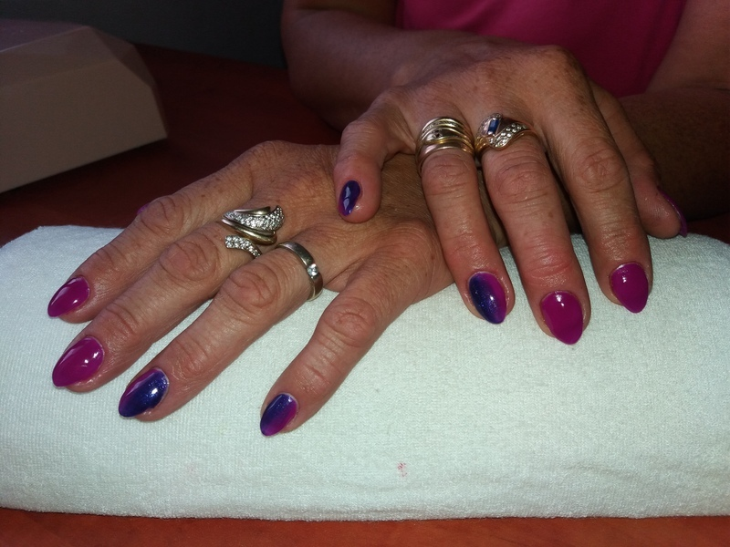 Ombre nail art by Magda