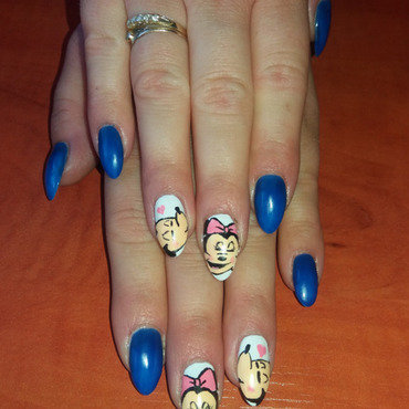 Mickey Mouse nail art by Magda