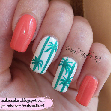 Palm 20tree 20summer 20nail 20art 20design 20tutorial thumb370f
