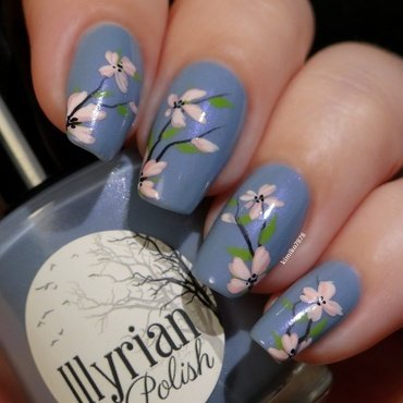 Nymph Garden nail art by Kim