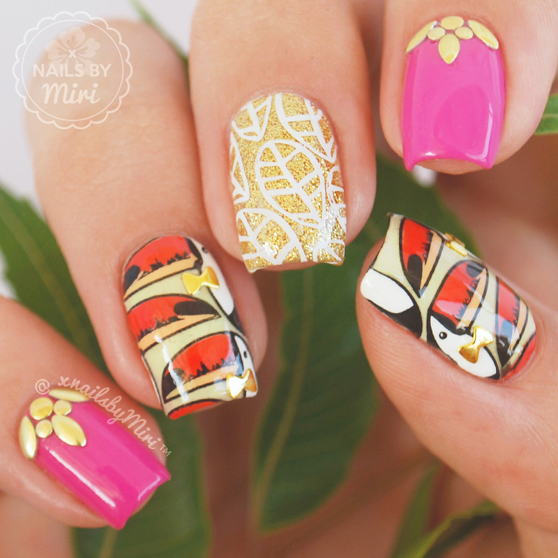 Toucan Nails nail art by xNailsByMiri