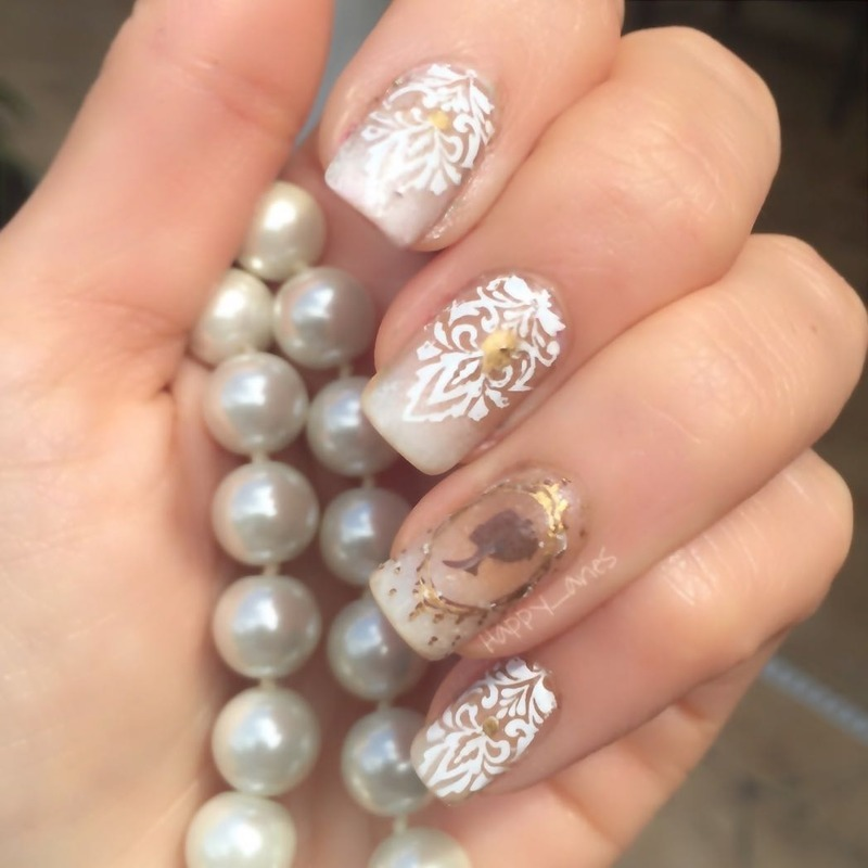 Elegantly placed  nail art by Happy_aries