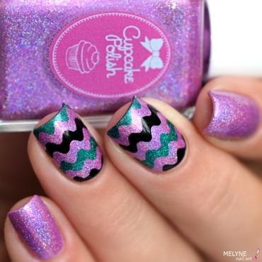 """""""Wave"""" nail art nail art by melyne nailart"""