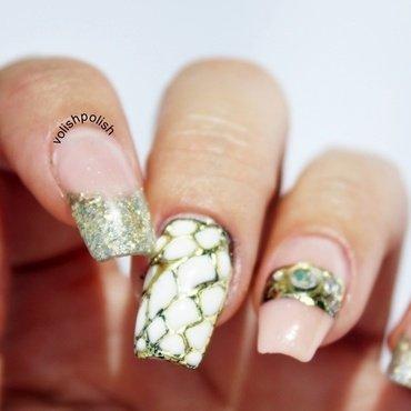 Michael Kors nail art design nail art by Volish Polish