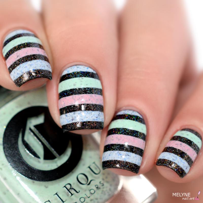 Stripes nail art nail art by melyne nailart
