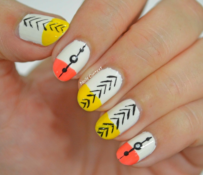 Indian Summer Nails  nail art by NailsContext