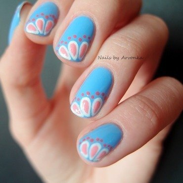 Spring Manicure nail art by Veronika Sovcikova