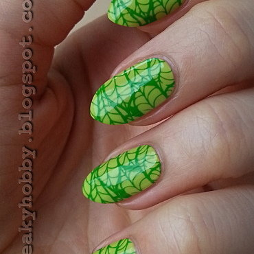 Optimistic Leaves nail art by Mgielka M