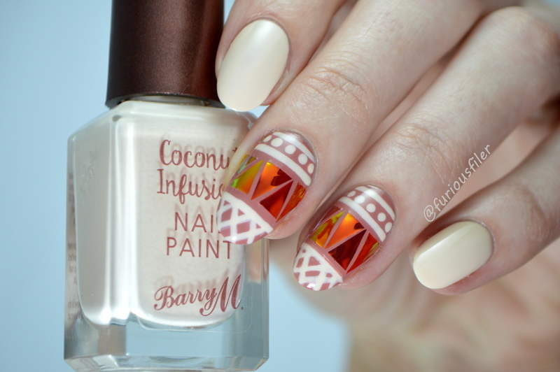 Festival Glass Nails nail art by Furious Filer