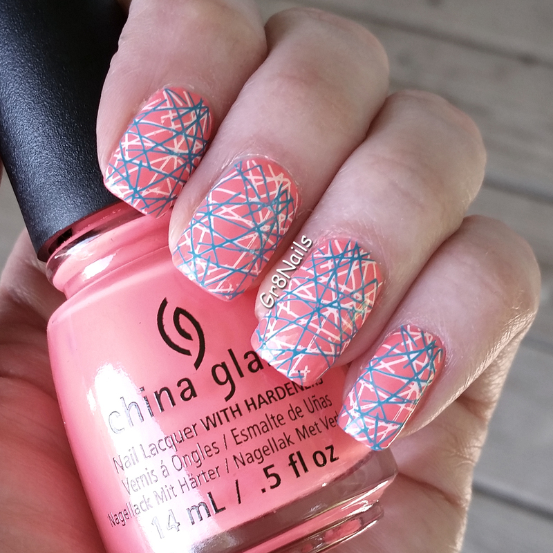 Double Stamping nail art by Gr8Nails