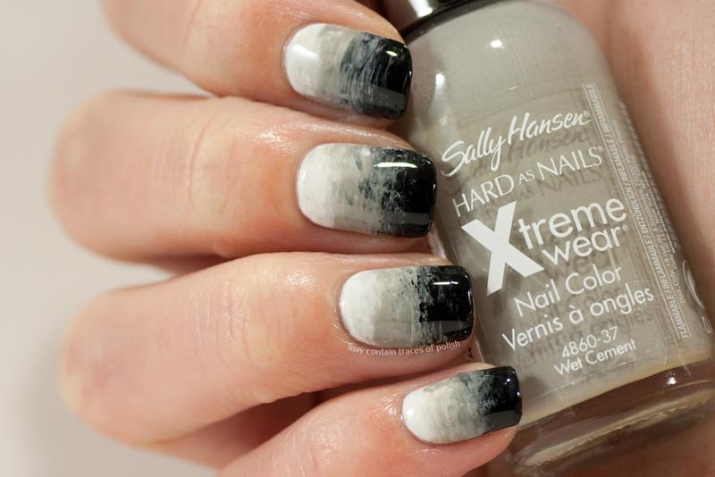 Fan brush gradient nail art by Zara TracesOfPolish