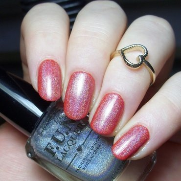 Essie Hip-anema and Fun Lacquer Diamond Holo Top Coat Swatch by nailicious_1