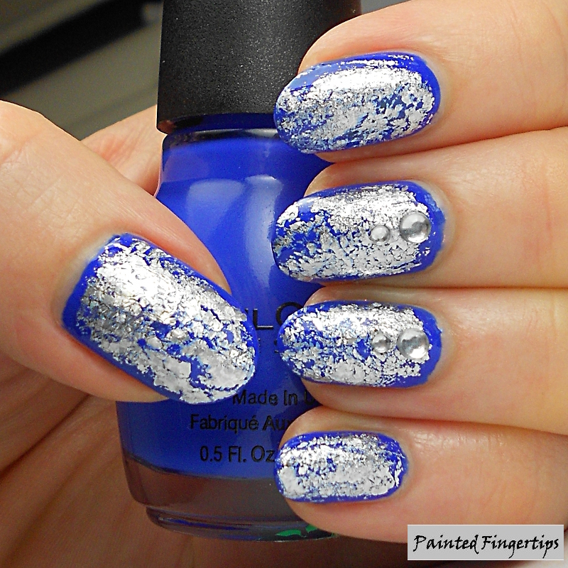 Quick nail foil art nail art by Kerry_Fingertips