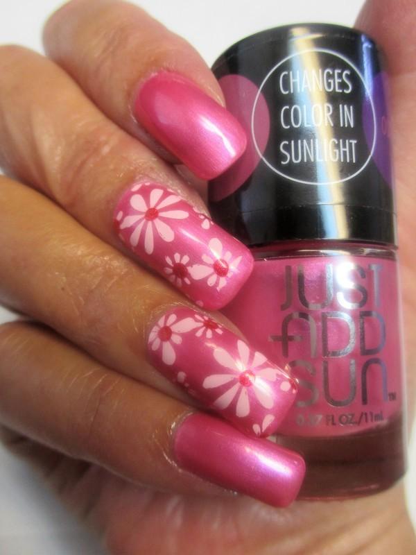 Hot Stuff nail art by NinaB