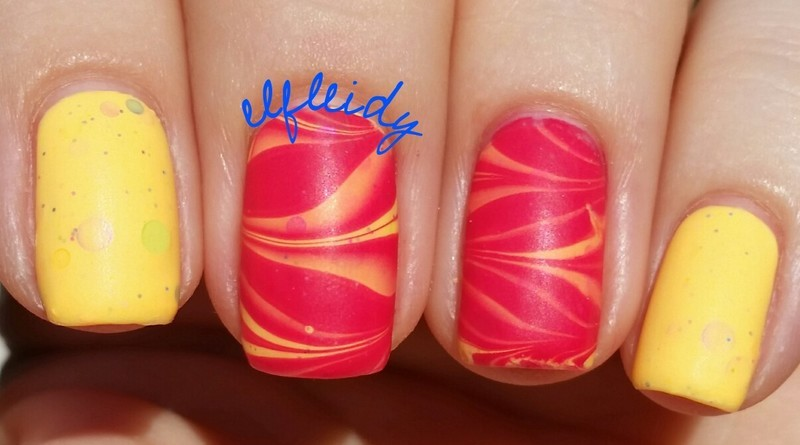 #watermarblepracticewed 06-15-2016 nail art by Jenette Maitland-Tomblin
