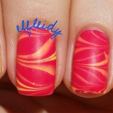 #watermarblepracticewed 06-15-2016 nail art by Jenette Maitland-Tomblin
