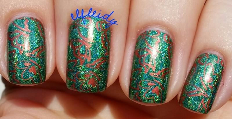 Copper butterflies nail art by Jenette Maitland-Tomblin