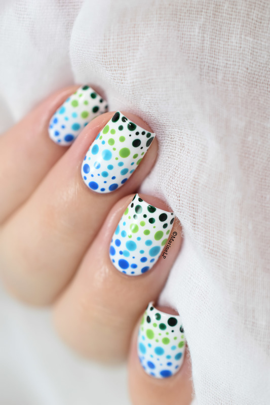 Gradient dotticure nail art by Marine Loves Polish