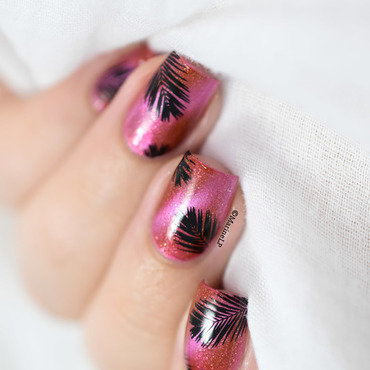 Summer nails dance legend magnetic 616 topatopa palm tree leaves 20 5  thumb370f