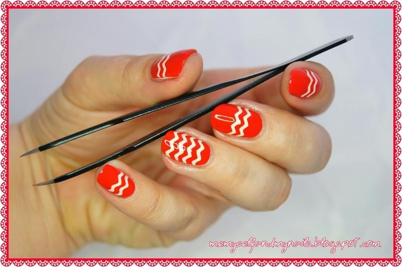 Chevrons nail art by ELIZA OK-W