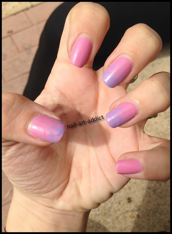 Nail Art : Stripping Tape nail art by SowNails
