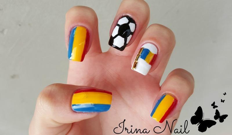 💅 Nail art EURO 2016 | România | Irina Nail  nail art by Irina Nail